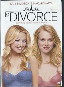 Le Divorce (DVD, Dual Side) Kate Hudson, Naomi Watts