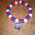 Festive Star Charm Stretch Bracelet