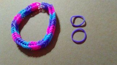 Triple Color Fishtail Bracelet