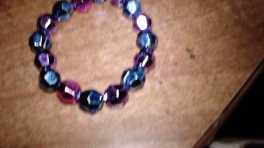 Metalic Round Beaded Bracelet