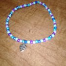 Multi-Color Anklet With A Heart Charm