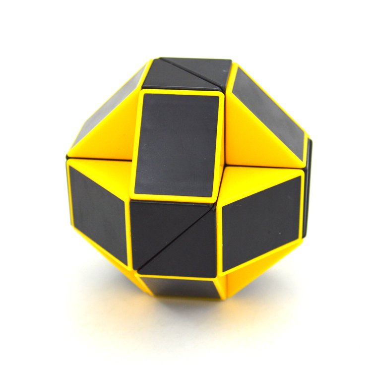 SHS Creative Changeable Rubik's Snake Magic Cube Puzzle Toy Yellow