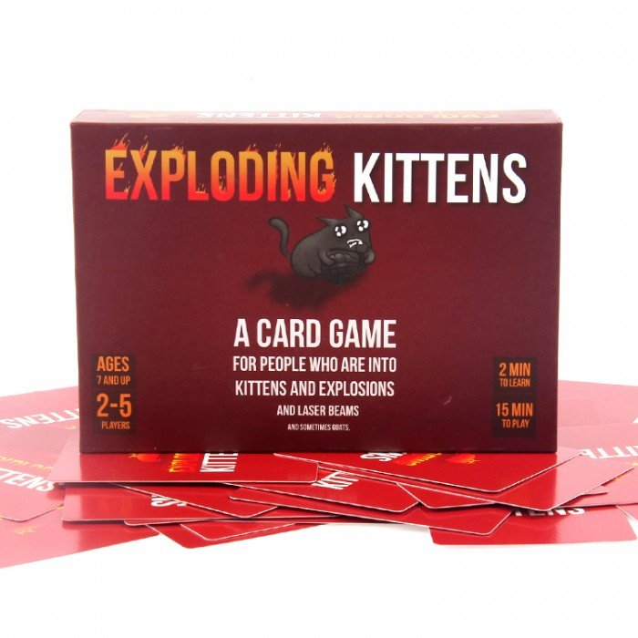 Exploding Kittens Original Edition Card Game - Free Delivery