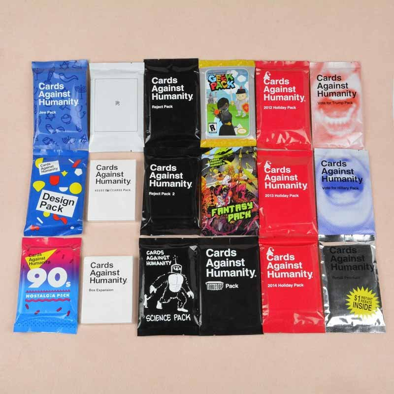 18pcs Full Set Of Cards Against Humanity Mini Pack Expansions