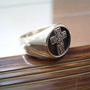 MASONIC RING FREEMASON Sterling Silver MASON RING Handcrafted Men's Jewelry