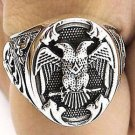 Handmade Men's Eagle MASONIC RING FREEMASON Sterling Silver Any Size free P&P