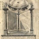 CANVAS Masonic Diploma Reduced FREEMASONRY MASONIC Painting Stretched Decor