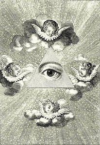 CANVAS Eye of Providence FREEMASONRY MASONIC Illuminati Painting Stretched Decor