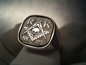Handmade MASONIC Ring YOUR NAME LODGE Num SILVER 925 & GOLD 14K Freemason Mason