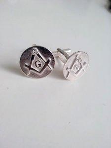 Masonic CuffLinks Handmade Freemasonry SILVER 925 cuff links masonry mason