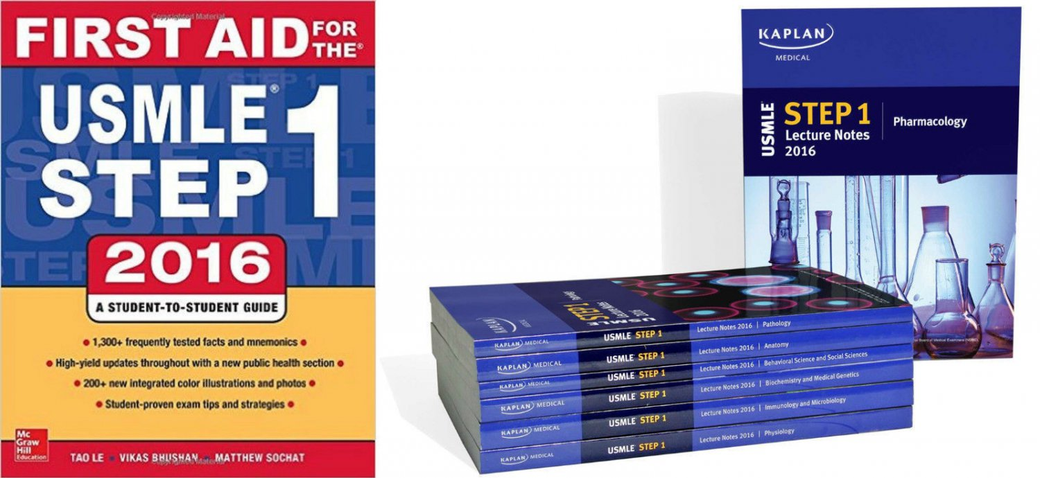 USMLE Step 1 Lecture Notes 2016 Edition by Kaplan + First Aid 2016 By Tao Le