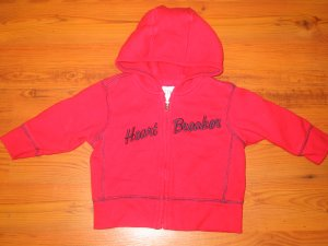 "Baby Gap ""Heart Breaker""  Sweatshirt"