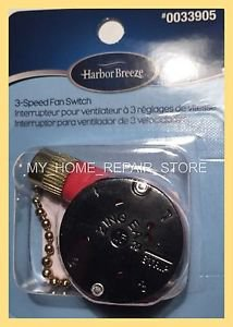 FREE S&H! HARBOR BREEZE  3 SPEED  CEILING FAN PULL CHAIN 4 WIRE SWITCH ZE-208S