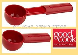 US SELLER!FREE S&H! GOOD COOK COFFEE SCOOP RED 2 TBSP EXTENDABLE MEASURING SPOON