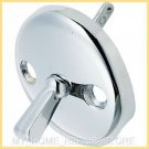 FREE S&H! CHROME BATHTUB TUB DRAIN OVERFLOW TRIP LEVER  FACE PLATE WITH 2 SCREWS
