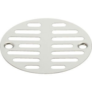 "STOP HAIR! CHROME PLATED 3-1/2"" 2 SCREW SHOWER FLOOR DRAIN STRAINER SCREEN COVER"
