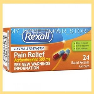 24 REXALL EXTRA STRENGTH ACETAMINOPHEN PAIN RELIEF GELCAPS 500Mg GENERIC TYLENOL