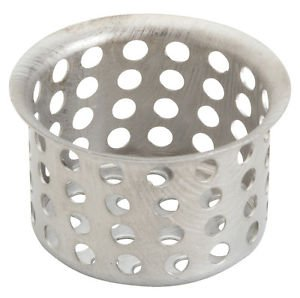 "FREE S&H! STOP HAIR + LOST RINGS !  1 "" DROP-IN  DRAIN  STRAINER STAINLESS STEEL"