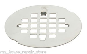 !STOP HAIR! STAINLESS STEEL SNAP-IN SHOWER FLOOR DRAIN STRAINER W/TABS !FREE S&H
