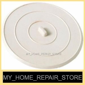 "BIGGER & THICKER !   LARGE 5"" COMMERCIAL GRADE RUBBER KITCHEN SINK DRAIN STOPPER"