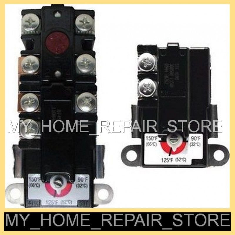 GET BOTH! UPPER &LOWER THERM O DISC THERMOSTAT 4 2 ELEMENT ELECTRIC WATER HEATER