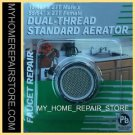 FREE S&H! AQUA PLUMB 2.2 GPM CHROME STANDARD FLOW FAUCET AERATOR 4 DELTA,MOEN &