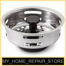 US SELLER! SUNBEAM STAINLESS STEEL KITCHEN SINK DRAIN STRAINER BASKET &  STOPPER