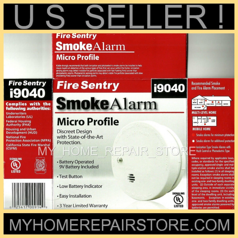 FREE S&H ! KIDDE FIRE SENTRY i9040 MICRO PROFILE IONIZATION SMOKE DETECTOR ALARM
