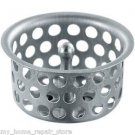 "FREE S&H! STOP HAIR CLOG! 1+5/8-1+3/4"" STAINLESS DROP-IN BATH TUB DRAIN STRAINER"