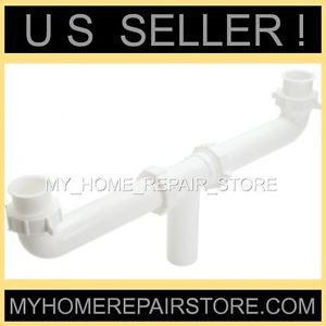"""CENTER WASTE OUTLET 1+1/2 """" KITCHEN SINK DRAIN CROSS OVER  ASSEMBLY - FREE S&H !"""