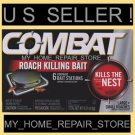 6 FOR $ 9 !   1 BOX OF 6  COMBAT COCKROACH BAIT STATIONS ! KILLS THE ROACH NEST!