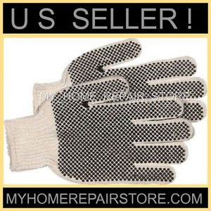 GET A GRIP! WITH THESE! FREE S&H! CORDOVA WHITE STRING KNIT GLOVES WITH PVC DOTS