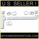 """END WASTE  OUTLET 1+1/2 """" KITCHEN SINK DRAIN CROSS OVER  ASSEMBLY  - FREE S&H !!"""