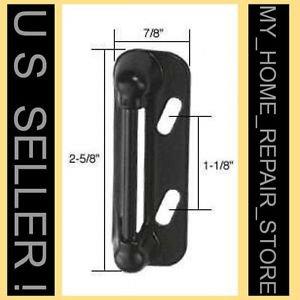 FREE S&H! SPRING LOADED STRIKE 4 STORM & SCREEN DOOR LATCH HANDLE CATCH  - BLACK