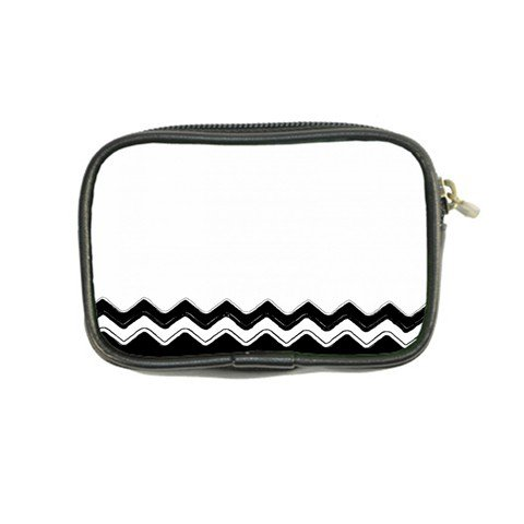 Chevrons Black Pattern Background Coin Purse