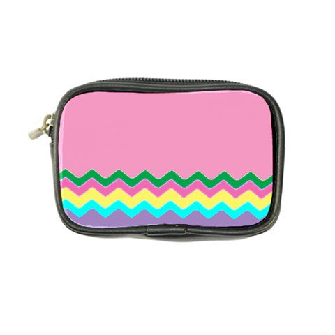 Easter Chevron Pattern Stripes Coin Purse