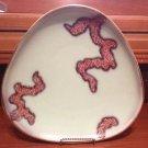 Vintage Orig. Mid Century Modern Art Deco design Germany Aqua Plate Platter Tray