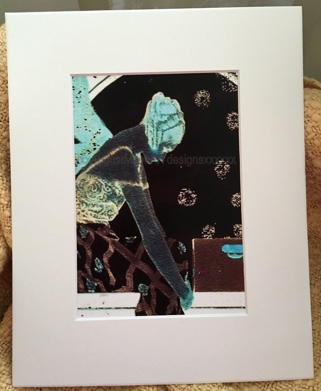 Metaphysical Fantasy Fine Art Watercolor print Vintage Deco Lady Moonlight Fairy Blessings