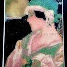 Fantasy Metaphysical Fine Art Watercolor Print Full Moon Manifesting Magic Dreams Deco Maiden