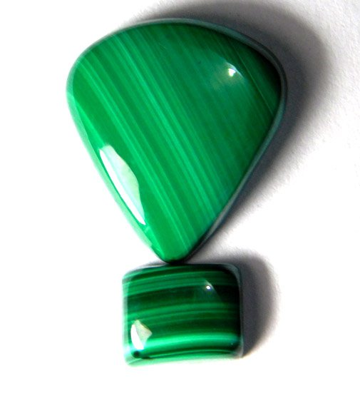 Malachite gemstone cabochons natural gemstone .