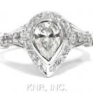 PEAR CUT DIAMOND ENGAGEMENT RING ART DECO 1.50CTW