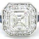 ASSCHER CUT DIAMOND ENGAGEMENT RING 2.00CT 14K