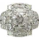 ROUND CUT DIAMOND ENGAGEMENT RING ART DECO ANTIQUE STYLE 2.05CTW