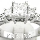 PRINCESS CUT DIAMOND ENGAGEMENT RING ART DECO 1.15CTW