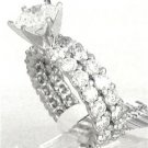 ROUND DIAMOND ETERNITY ENGAGEMENT RING & BAND 5.85CTW
