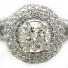 ROUND DIAMOND ENGAGEMENT RING DECO SPLIT BAND 2.60CT