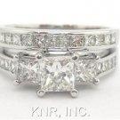 1.99CT PRINCESS DIAMOND ENGAGEMENT RING & BAND SET BIG