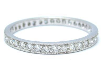 14k White Gold Round Cut Diamond Band Anniversary Eternity Style 0.60ctw