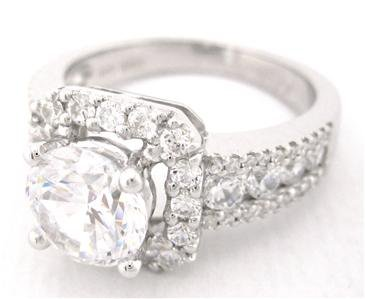ROUND CUT DIAMOND ENGAGEMENT RING 2.56CT DECO