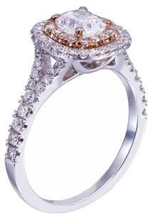 18k White Rose Gold Cushion Cut Diamond Engagement Ring 1.65ctw G-VS2 EGL USA